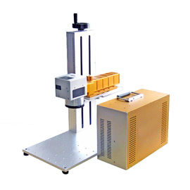 Chiny Plate and animal ear tag portable fiber laser marking machine CE dostawca