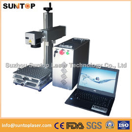 Chiny 20W portable fiber laser marking machine for plastic PVC data matrix and barcode dystrybutor