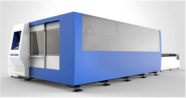 Chiny 20mm Carbon Steel CNC Fiber Laser Cutting machine with 2000W , exchanger table fabryka