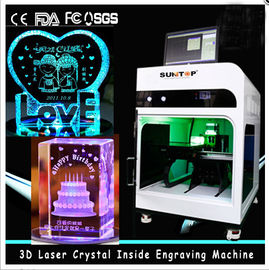 Chiny 3D Crystal Laser Inner Engraving Machine 2000HZ speed 120,000 dots / Minute fabryka